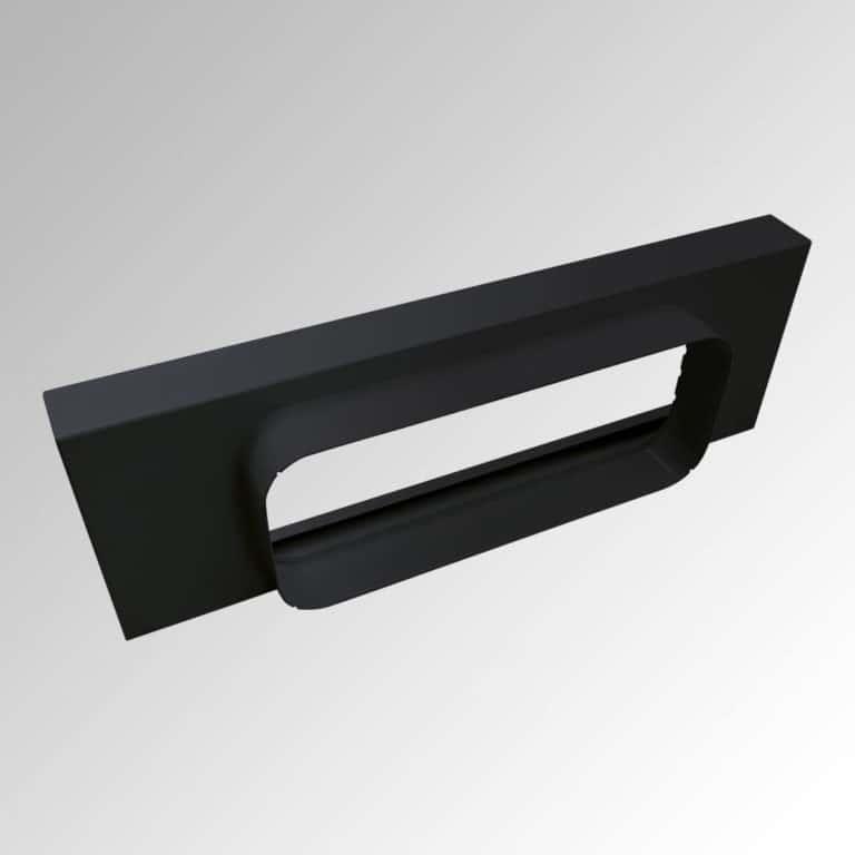 Abluft-Adapter, Schwarz