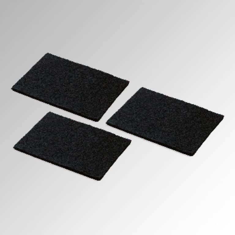 3 x Aktivkohlefilter-Pad (bis zu 3 x waschbar) 120 cm