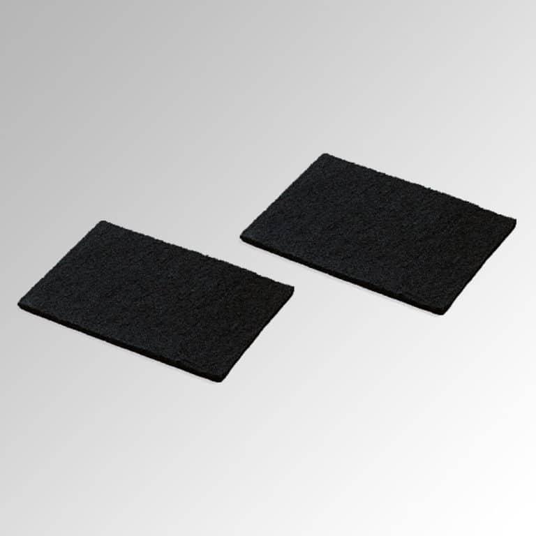 Set aus 2 waschbaren Aktivkohlefilter-Pads (bis zu 3 x waschbar)
