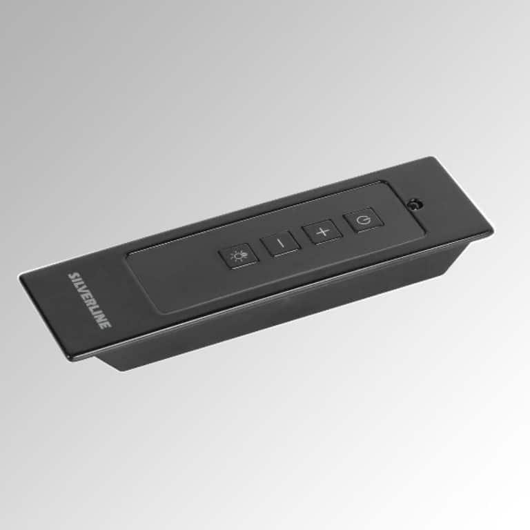Infrarot-Fernbedienung, schwarz, inkl. Einbau-Kit