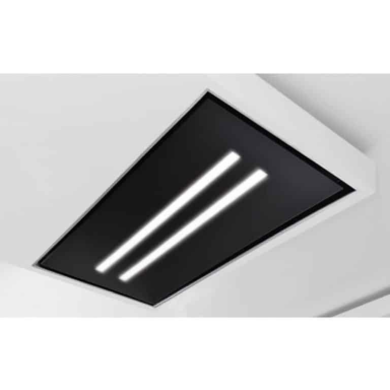 Glasplatte mit LED-Beleuchtung, Schwarzglas 100 x 60 cm