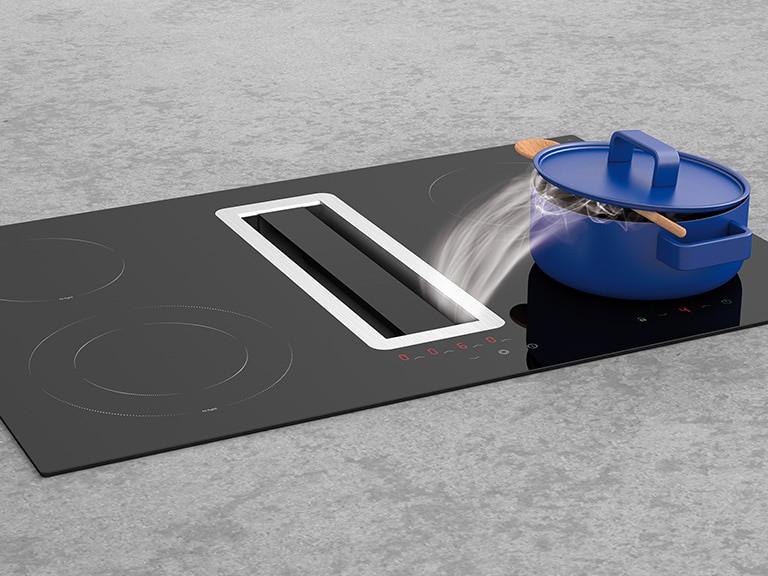 Randabsaugungsplatte aus schwarzem Hartglas